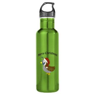 Merry Christmas! Santa Quail Stainless Steel Water Bottle