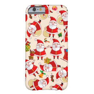Merry Christmas Santa Red Gold Green iPhone 6 Case