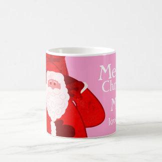 Merry Christmas Santa red/pink named girls mug