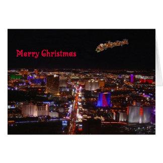 Merry Christmas Santa & Reindeers Card