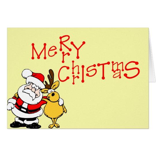 Merry Christmas Santa Rudloph Card