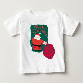 Merry Christmas Santa Scribble Baby T-Shirt
