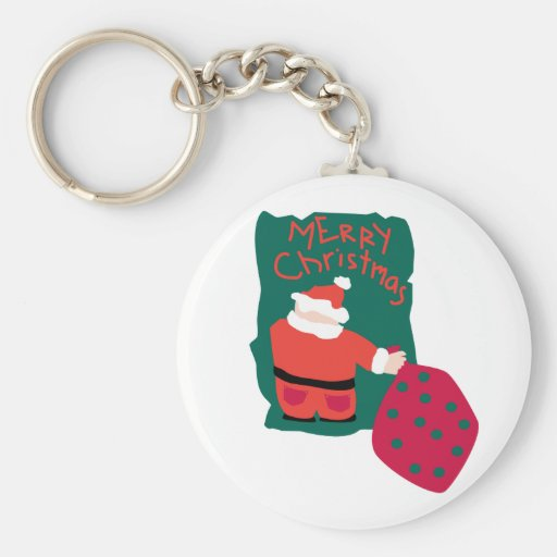 Merry Christmas Santa Scribble Key Chains