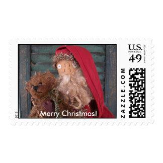 Merry Christmas Santa Stamp