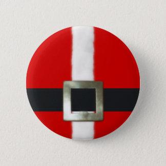 Merry Christmas Santa Suit Button