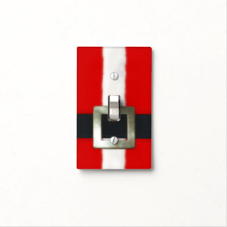 Merry Christmas Santa Suit Light Switch Cover