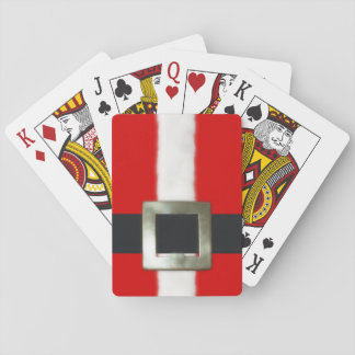 Merry Christmas Santa Suit Playing Cards