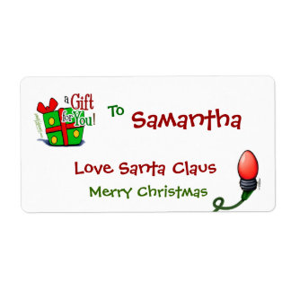 Merry Christmas Santa Tags Shipping Labels