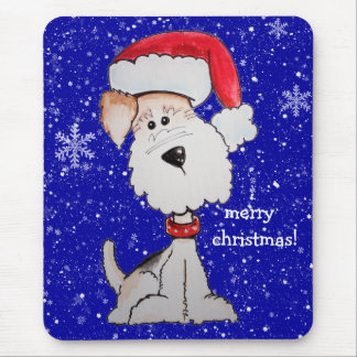 Merry Christmas!  Santa Terrier Mouse Pad