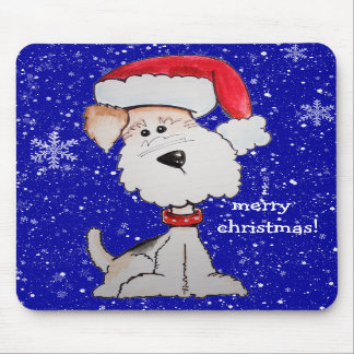 Merry Christmas!  Santa Terrier Mouse Pads