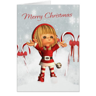 Merry Christmas - Santa's Little Helper - Elf Card