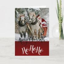 Merry Christmas Santa's Sleigh - For the kids Card