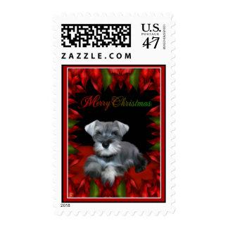 Merry Christmas - Schnauzer Stamp