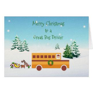 Merry Christmas, School Bus Driver Card