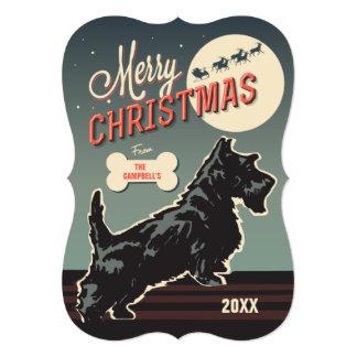 Merry Christmas Scottie 5x7 Paper Invitation Card