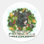 Merry Christmas Scottie Stickers