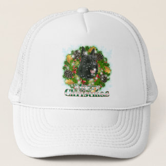 Merry Christmas Scottie Trucker Hat