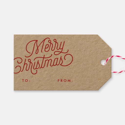 Merry Christmas Script Holiday Gift...