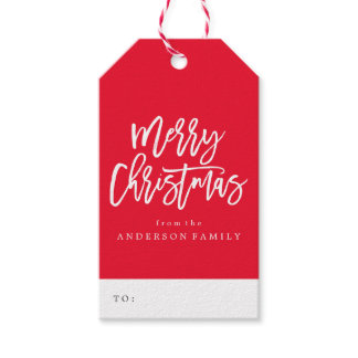 Merry Christmas Script | Holiday Gift Tags