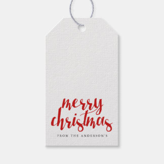 Merry Christmas Script   HOLIDAYS Pack Of Gift Tags