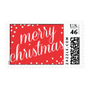 Merry Christmas Script Postage Stamp