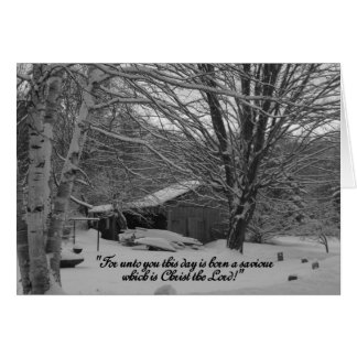 Merry Christmas,  scripture greeting Card
