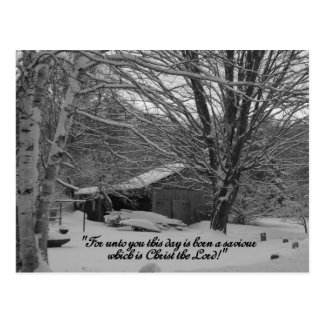 Merry Christmas,  scripture greeting Postcard