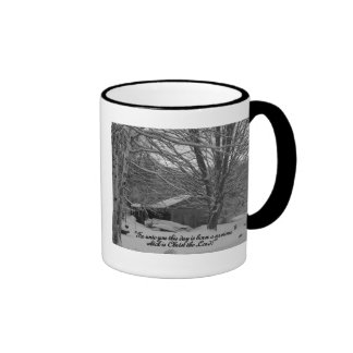 Merry Christmas,  scripture greeting Ringer Mug