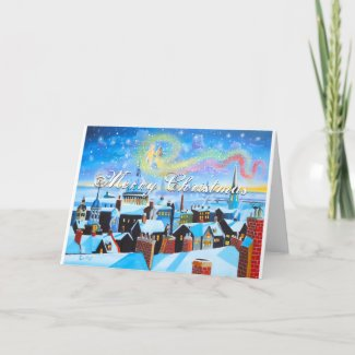 Merry Christmas Scrooge and London Holiday Card