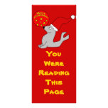 Merry Christmas Seal Bookmark Template Rack Card