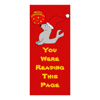 Merry Christmas Seal Bookmark Template Personalized Rack Card