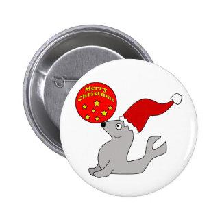 Merry Christmas Seal Button
