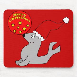 Merry Christmas Seal Mousepad
