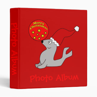 Merry Christmas Seal Photo Album Template 3 Ring Binder