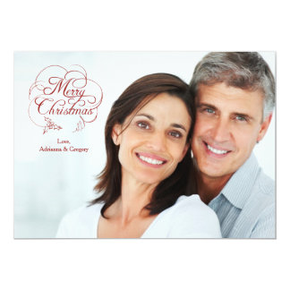 Merry Christmas Sentiments Holiday Photo Card