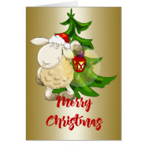 Merry Christmas Sheep Card