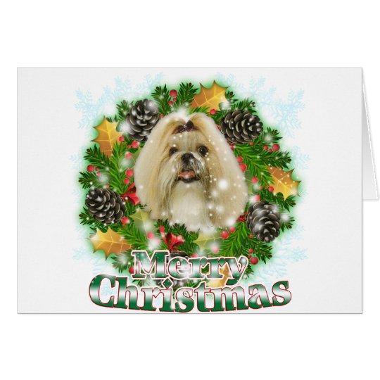 Merry Christmas Shih Tzu Card