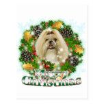 Merry Christmas Shih Tzu Postcard