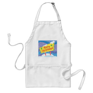 Merry Christmas Sign Adult Apron
