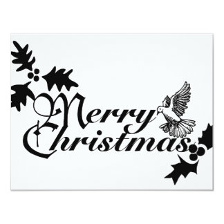merry_Christmas_sign_BW Card