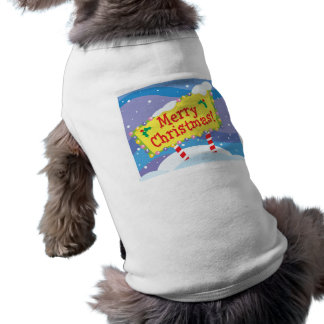 Merry Christmas Sign Dog Clothes