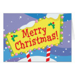 Merry Christmas Sign Greeting Cards