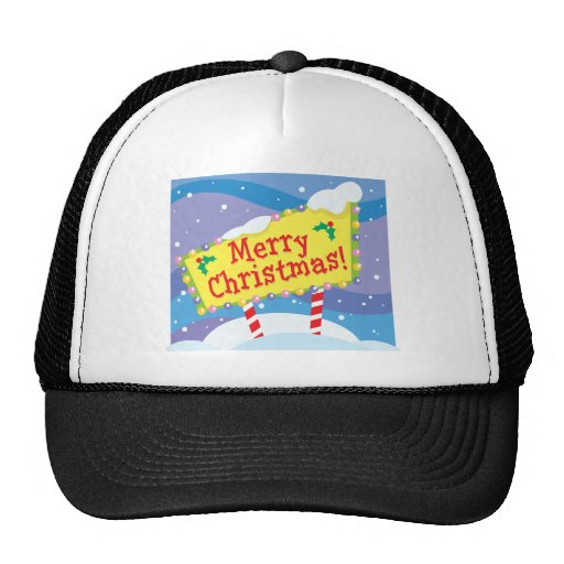 Merry Christmas Sign Hats