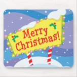 Merry Christmas Sign Mouse Pad