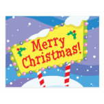 Merry Christmas Sign Post Card
