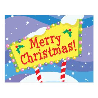Merry Christmas Sign Postcard