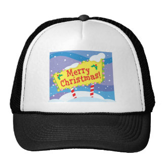 Merry Christmas Sign Trucker Hat