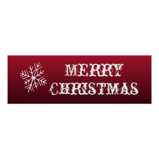 Merry Christmas Sign Wall Poster Decoration