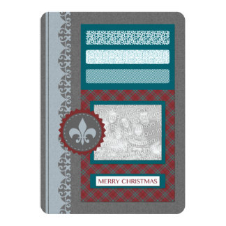 merry christmas (silhouscreen) 5x7 paper invitation card