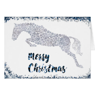 Merry Christmas Silver Jumper Greeting Card